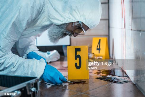 forensic scientist at work - fbi id stock pictures, royalty-free photos & images