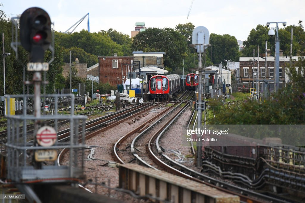 A forensic tent is seen next to the stopped tube train at Parsons Green Underground Station & 60 Top Terror Incident At Parsons Green Underground Station Pictures ...