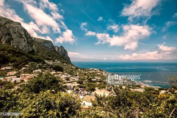 Foreshortening Capri island Campania Italy Europe