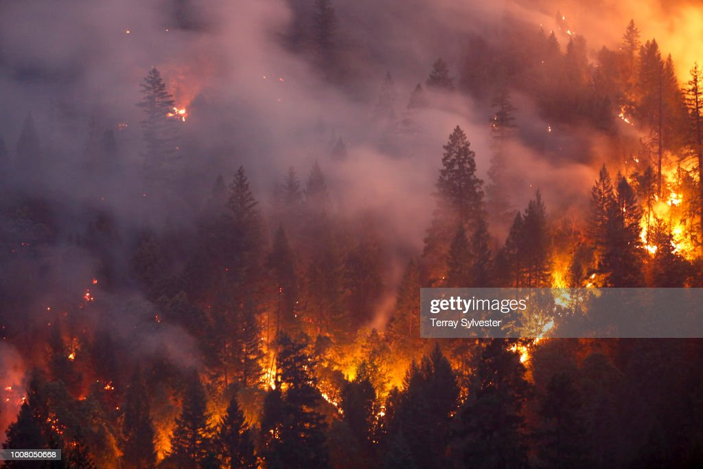 Death Toll Rises To 6 As Redding Area Wildfire Spreads To 90,000 Acres : News Photo