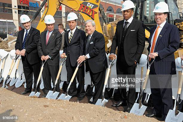Forest City Ratner Companies Chairman and CEO Bruce Ratner New York City Mayor Michael Bloomberg New York State Governer David Paterson Brooklyn...