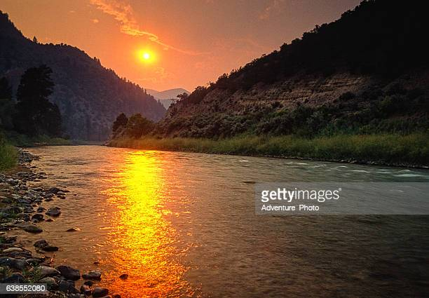 Forest Fire Sunset Colorado River