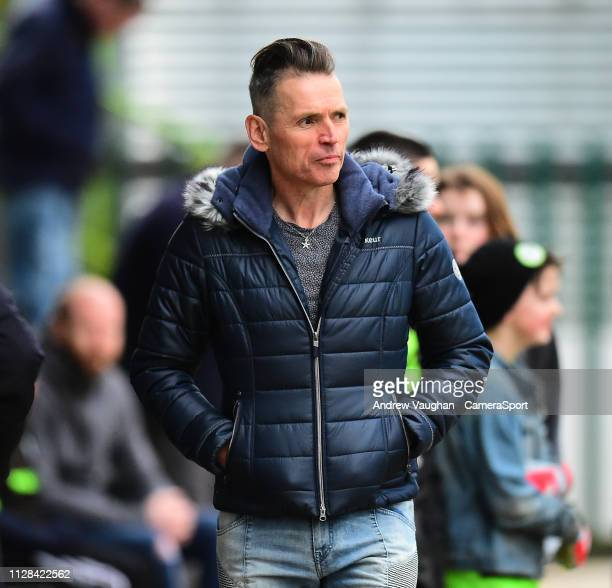 Forest Green Rovers Chairman Dale Vince prior to the Sky Bet League Two match between Forest Green Rovers and Lincoln City at The New Lawn on March 2...