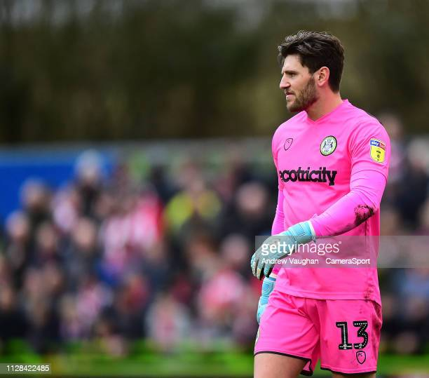 Forest Green Rovers' James Montgomery during the Sky Bet League Two match between Forest Green Rovers and Lincoln City at The New Lawn on March 2...