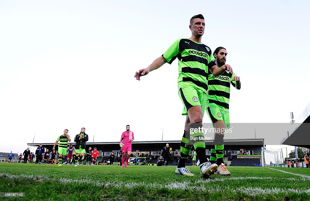 Forest Green Rovers FC v Scunthorpe United - FA Cup First Round : News Photo