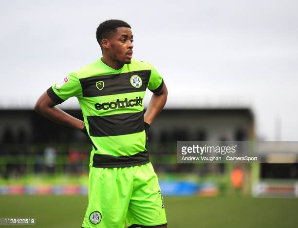 Forest Green Rovers' Reece Brown during the Sky Bet League Two match between Forest Green Rovers and Lincoln City at The New Lawn on March 2 2019 in...