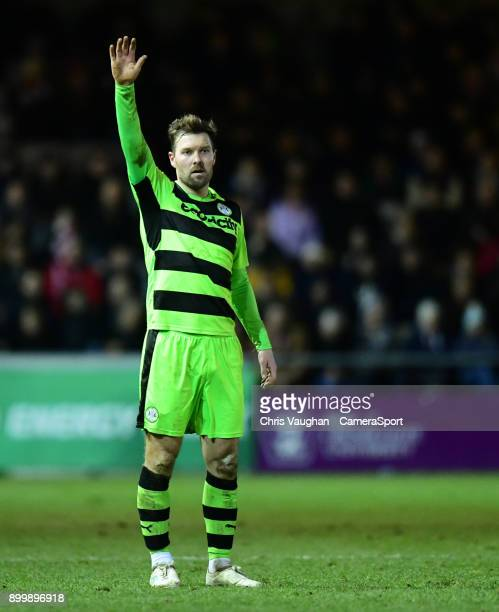 Forest Green Rovers' Scott Laird during the Sky Bet League Two match between Lincoln City and Forest Green Rovers at Sincil Bank Stadium on December...