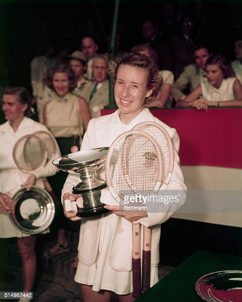 American tennis champion Maureen Connolly circa 1950