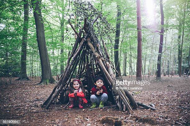 forest hut - hut stock pictures, royalty-free photos & images