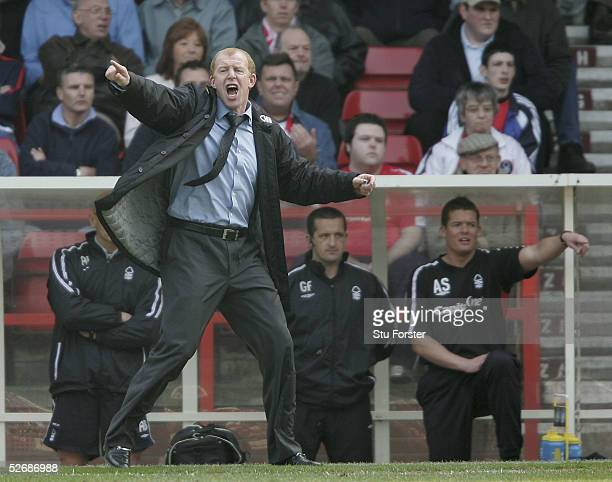 Forest manager Gary Megson makes a point during the Coca Cola Football league Championship match between Nottingham Forest and Burnley at The City...