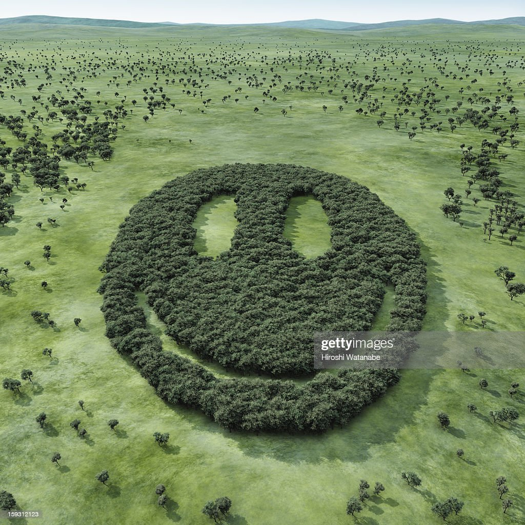 Forest shaped smiley : Stock Photo