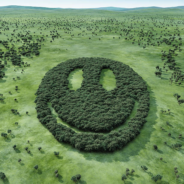 Forest shaped smiley