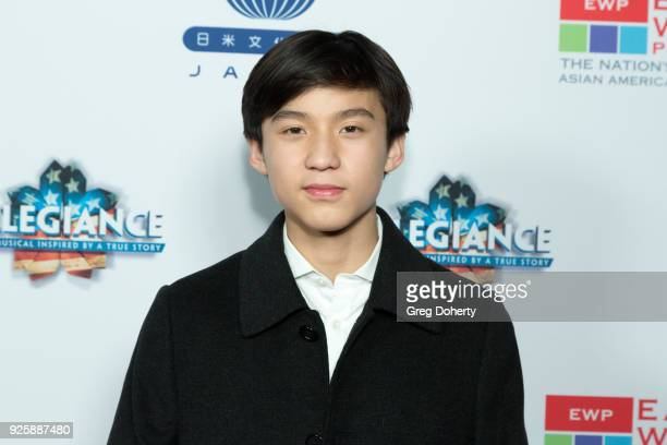 Forest Wheeler attends the Opening Night Of Allegiance at Japanese American Cultural Community Center on February 28 2018 in Los Angeles California
