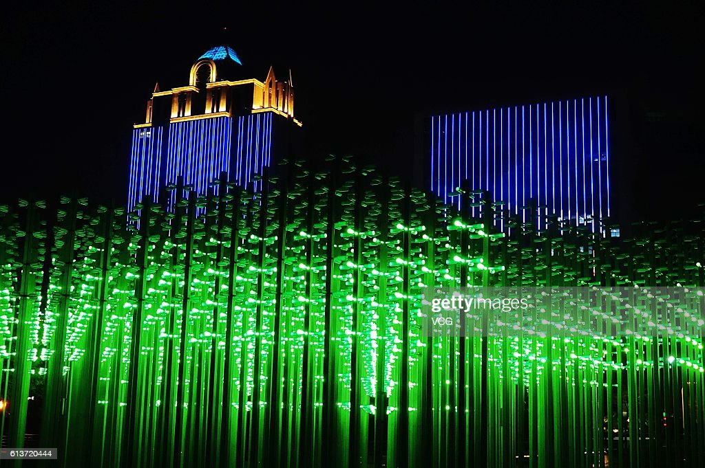 A forest which is made up of hundreds of steel pillars and over 30000 plastic & Light Show In Qingdao Photos and Images | Getty Images azcodes.com