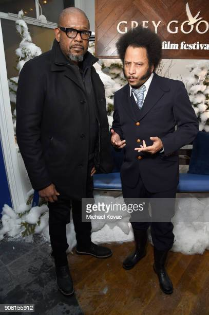 Forest Whitaker and Boots Riley attend the Sorry to Bother You After Party at Sundance Film Festival 2018 at The Grey Goose Blue Door on January 20...