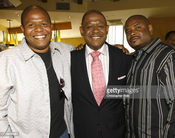 Forest Whitaker and brothers during Forest Whitaker Honored with a Star on the Hollywood Walk of Fame Luncheon at Vert in Los Angeles California...