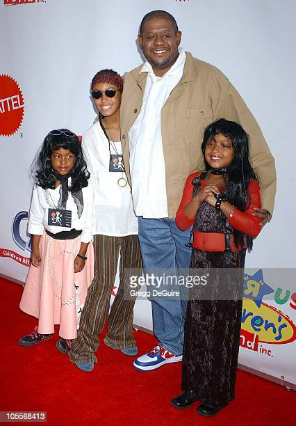 Forest Whitaker and family during 2004 Dream Halloween Fundraiser For Children Affected by AIDS Foundation at Barker Hangar in Santa Monica...