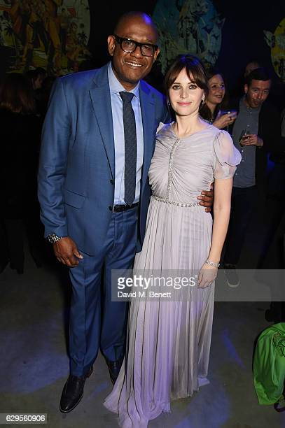 Forest Whitaker and Felicity Jones attend the Rogue One A Star Wars Story launch event after party at the Tate Modern on December 13 2016 in London...