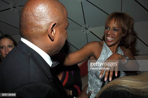 Forest Whitaker and Gayle King attend VANITY FAIR Oscar Party at Morton's on February 25 2007 in Los Angeles CA