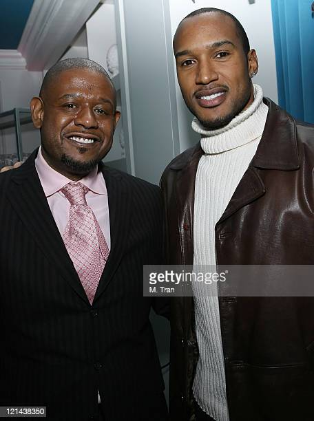 Forest Whitaker and Henry Simmons during Hot New Imported Russian Vodka SV – The Silk Vodka – stars as a sponsor of the preaward show cocktail party...