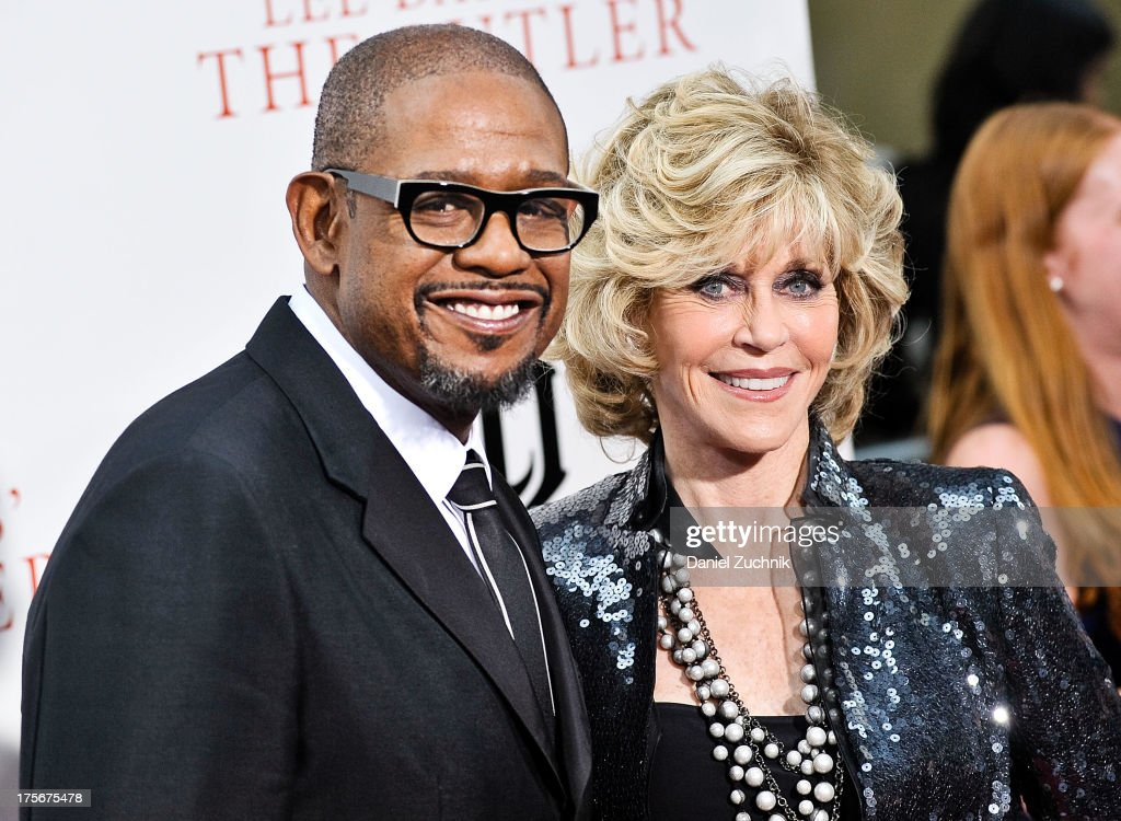 Forest Whitaker and Jane Fonda attend 'The Butler' New York Premiere at Ziegfeld Theater on August 5, 2013 in New York City.