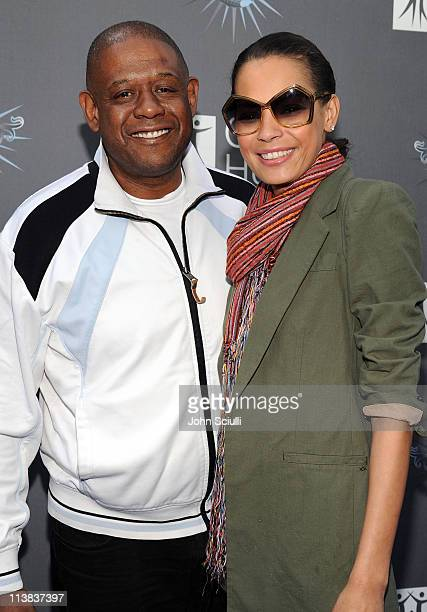 Forest Whitaker and Keisha Whitaker arrive for the City of Hope honoring Shelli And Irving Azoff with the 2011 Spirit of Life award at Universal...