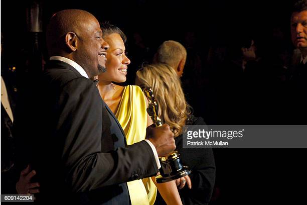Forest Whitaker and Keisha Whitaker attend VANITY FAIR Oscar Party at Morton's on February 25 2007 in Los Angeles CA