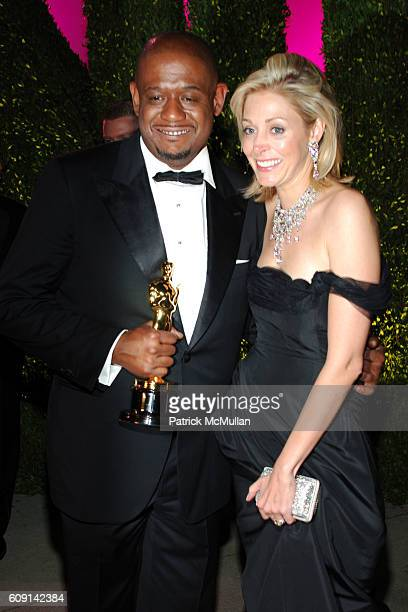 Forest Whitaker and Nadja Swarovski attend VANITY FAIR Oscar Party at Morton's on February 25 2007 in Los Angeles CA