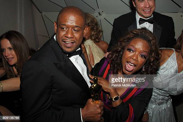 Forest Whitaker and Oprah Winfrey attend VANITY FAIR Oscar Party at Morton's on February 25 2007 in Los Angeles CA