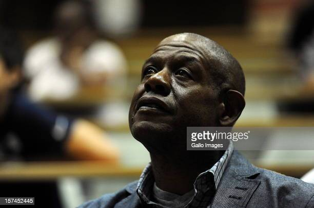Forest Whitaker at a Freedom of Slaves talk on December 2 in Cape Town South Africa