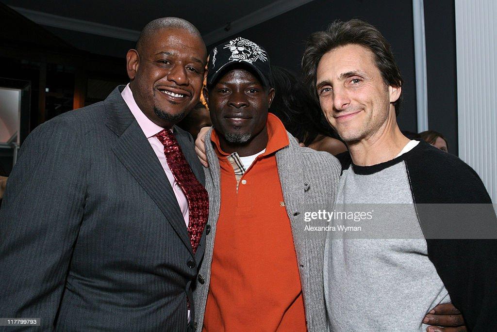 Forest Whitaker, Djimon Hounsou and Lawrence Bender