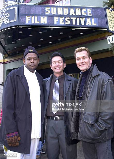 Forest Whitaker Don Duong and Patrick Swayze during Sundance Film Festival 2001 Green Dragon Portraits in Park City Utah United States