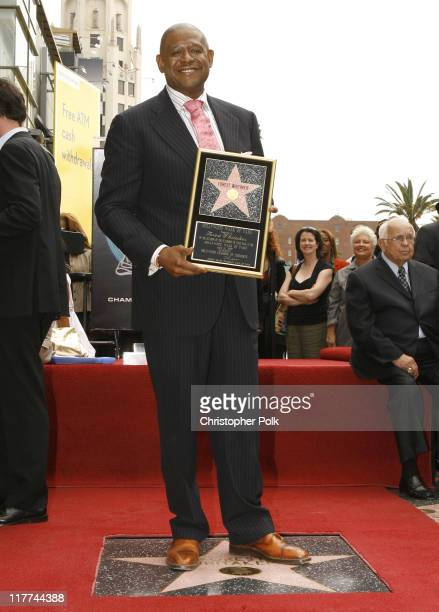 Forest Whitaker during Forest Whitaker Honored with a Star on the Hollywood Walk of Fame in Hollywood California United States
