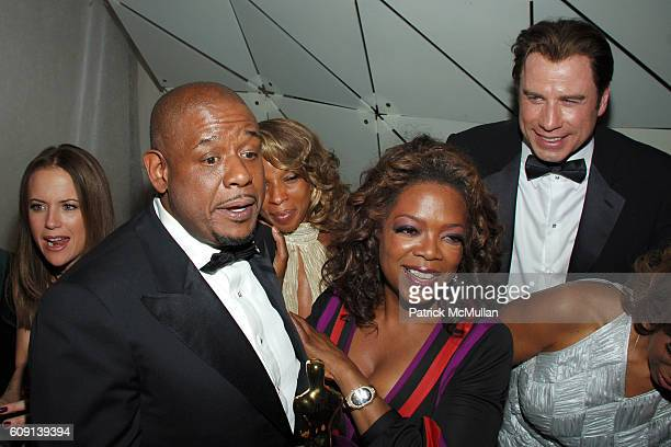 Forest Whitaker Mary J Blige Oprah Winfrey and John Travolta attend VANITY FAIR Oscar Party at Morton's on February 25 2007 in Los Angeles CA