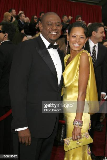Forest Whitaker nominee Best Performance by an Actor in a Leading Role for The Last King of Scotland and wife Keisha Whitaker