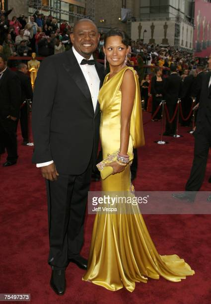 Forest Whitaker nominee Best Performance by an Actor in a Leading Role for The Last King of Scotland and wife Keisha Whitaker during the The 79th...