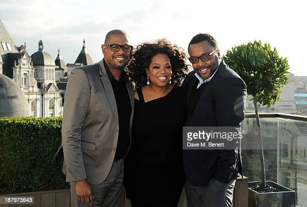 """Forest Whitaker, Oprah Winfrey and director Lee Daniels attend a photocall for """"The Butler"""" at the Corinthia Hotel London on November 14, 2013 in..."""
