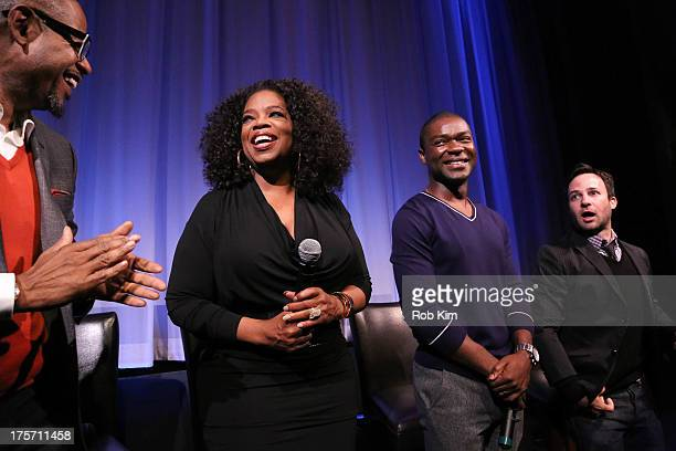 Forest Whitaker Oprah Winfrey David Oyelowo and Danny Strong attend The Academy of Motion Picture Arts and Sciences hosts an official Academy member...