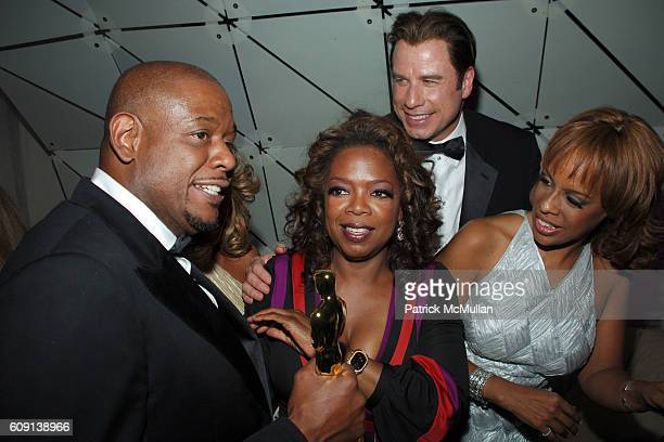 Forest Whitaker, Oprah Winfrey, John Travolta and Gayle King attend ; VANITY FAIR Oscar Party at Morton's on February 25, 2007 in Los Angeles, CA.