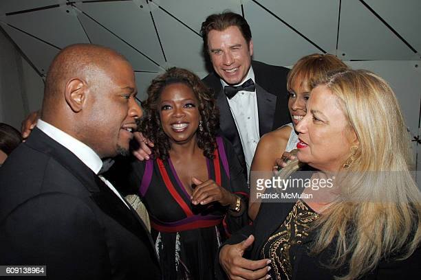 Forest Whitaker, Oprah Winfrey, John Travolta, Gayle King and ? attend ; VANITY FAIR Oscar Party at Morton's on February 25, 2007 in Los Angeles, CA.