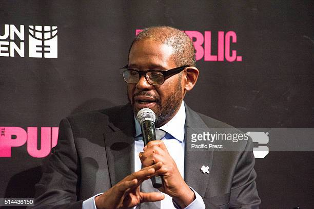 JOE'S PUB NEW YORK NY UNITED STATES Forest Whitaker participates in the panel discussion On International Women's Day NYC First Lady Chirlaine McCray...