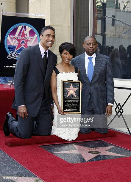 Forest Whitaker Rick Fox and Angela Bassett attend the ceremony for Angela Basset's Star on the Hollywood Walk of Fame held on Hollywood Blvd on...