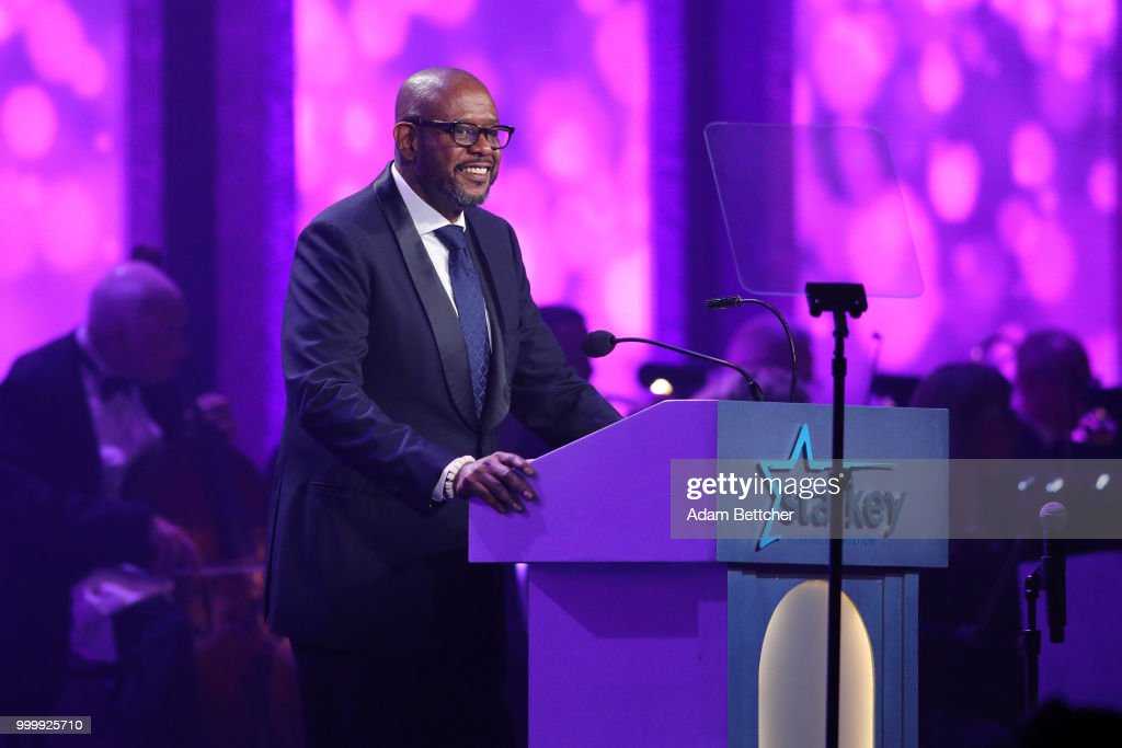 Forest Whitaker takes the stage at the 2018 So the World May Hear Awards Gala benefitting Starkey Hearing Foundation at the Saint Paul RiverCentre on July 15, 2018 in St. Paul, Minnesota.
