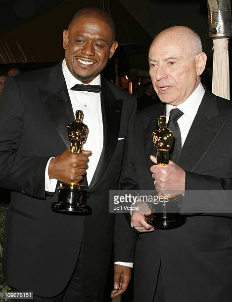 Forest Whitaker winner Best Actor in a Leading Role for 'The Last King of Scotland' wearing Domenico Vacca and Alan Arkin winner Best Actor in a...