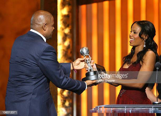 Forest Whitaker winner Outstanding Actor in a Motion Picture for The Last King of Scotland and Sanaa Lathan presenter