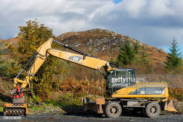 Forestry equipment in a remote location in Dumfries and Galloway