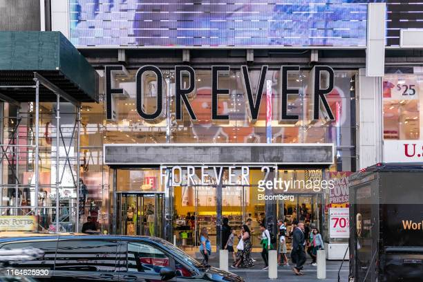 Forever 21 Inc. Store stands in the Times Square neighborhood of New York, U.S., on Thursday, Aug. 29, 2019. Forever 21 Inc.Is preparing for a...