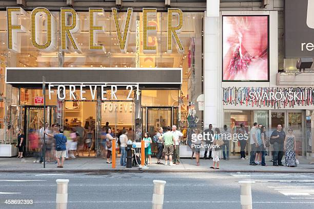 forever 21 times square stock photos and pictures getty images