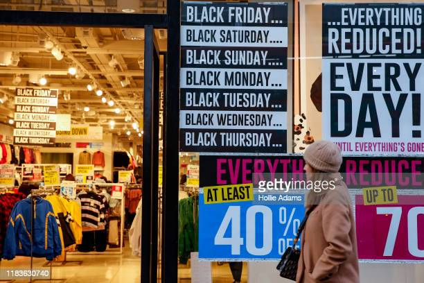 Forever 21 store advertises sales ahead of the Black Friday sales on November 20 2019 in London England