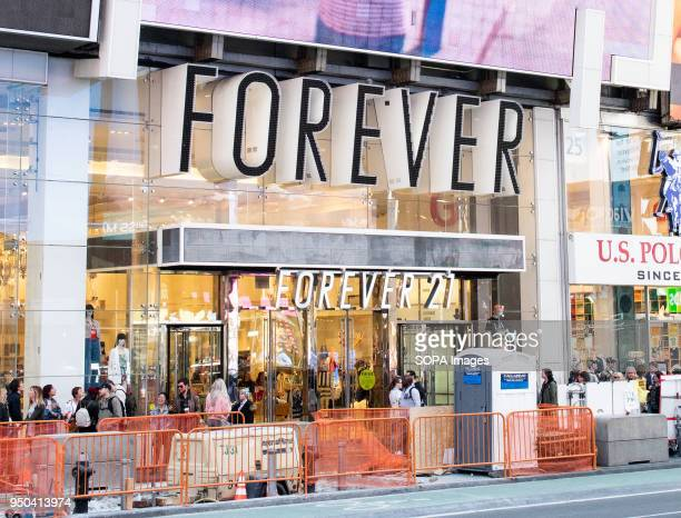 Forever 21 store in Times Square in New York City.